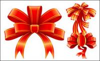 beautiful red ribbon vector