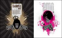 The theme of the trend vector illustrations orangutan material