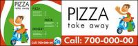 Pizza shop vector image of a simple template material