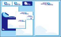 Enterprise VI simple blue template vector material