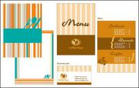 Catering menu card template vector material