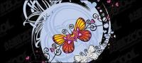 Butterfly heart-shaped vector material