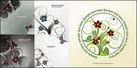 Another 5 vector fashion flowers pattern material