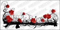 Beautiful rose pattern vector material
