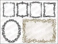 practical vector of European lace material