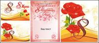 Vector illustration material roses theme