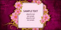 Beautiful flowers vector bulletin board material