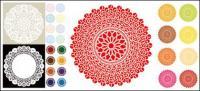Classical circular pattern vector material