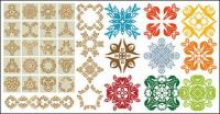 Variety of practical material classical pattern vector
