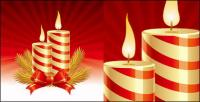 Christmas candle Vector fine material
