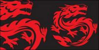 Vector material dragon totem