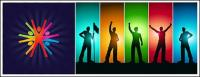 People silhouette Vector material trends