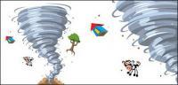 Tornado cartoon vector material
