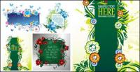 4 beautifully decorated bulletin board pattern vector material