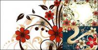 flower pattern vector style fashion material