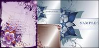 3 flower border vector material