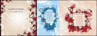 3 vector fashion flowers frame material-2