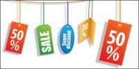 Sales discount decorative material label vector