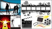 the theme of the film material vector
