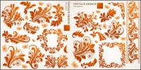 Beautiful butterfly pattern vector material of European