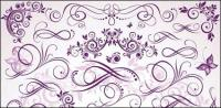Purple fine pattern vector material
