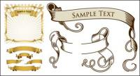 Material retro ribbon banner vector