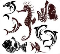 Marine life vector material