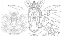 Lijiang Naxi God of Big Bird vector material