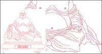 Laughing Buddha Vector material