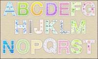 Lovely letter pattern vector material