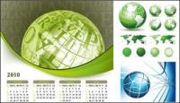 Earth theme vector material