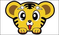 Cute little tiger-head material