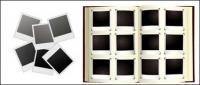 Polaroid photo albums vector material