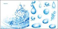 3 cool water theme vector material