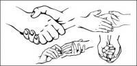 Vector material useful gesture (2)