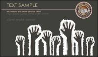 Paper fingerprint vector material