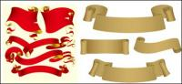 Vector ribbon and paper material