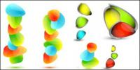 Vector of small colorful stone material