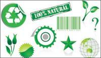 Environmental theme element vector material