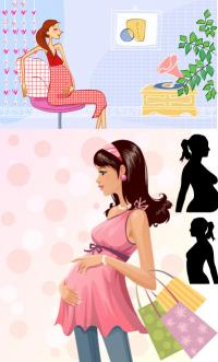 Maternity Fashion Vector material