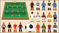 Cartoon Football Vector material