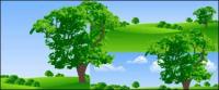 Grass tree vector material