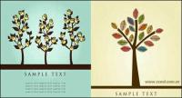 Lovely flower tree vector material