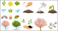 Plant trees vector material