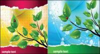 Leaf ladybug theme vector material