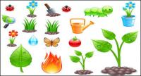 Planting theme vector material