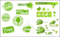 Some eco theme icon vector material