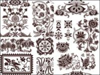 Exquisite classic traditional pattern vector material