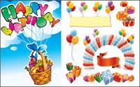 Happy birthday vector source material 2