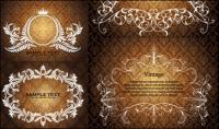 Ou luxuriant lace pattern vectors